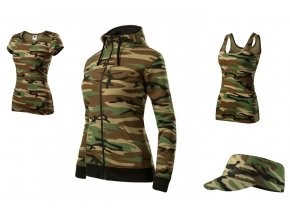 Camo set Woman Brown