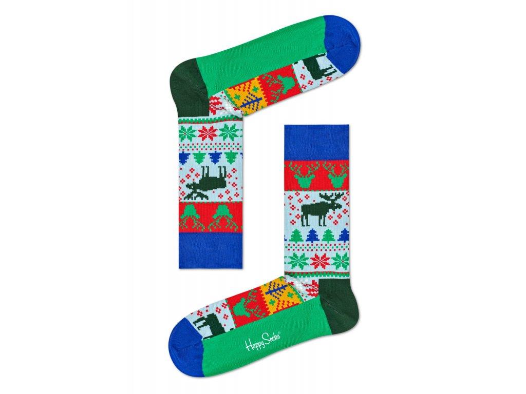 545d10a37ca Happy Socks Vánoční ponožky FAI01-7000 DÁMSKÉ - BE SOCKCESSFUL