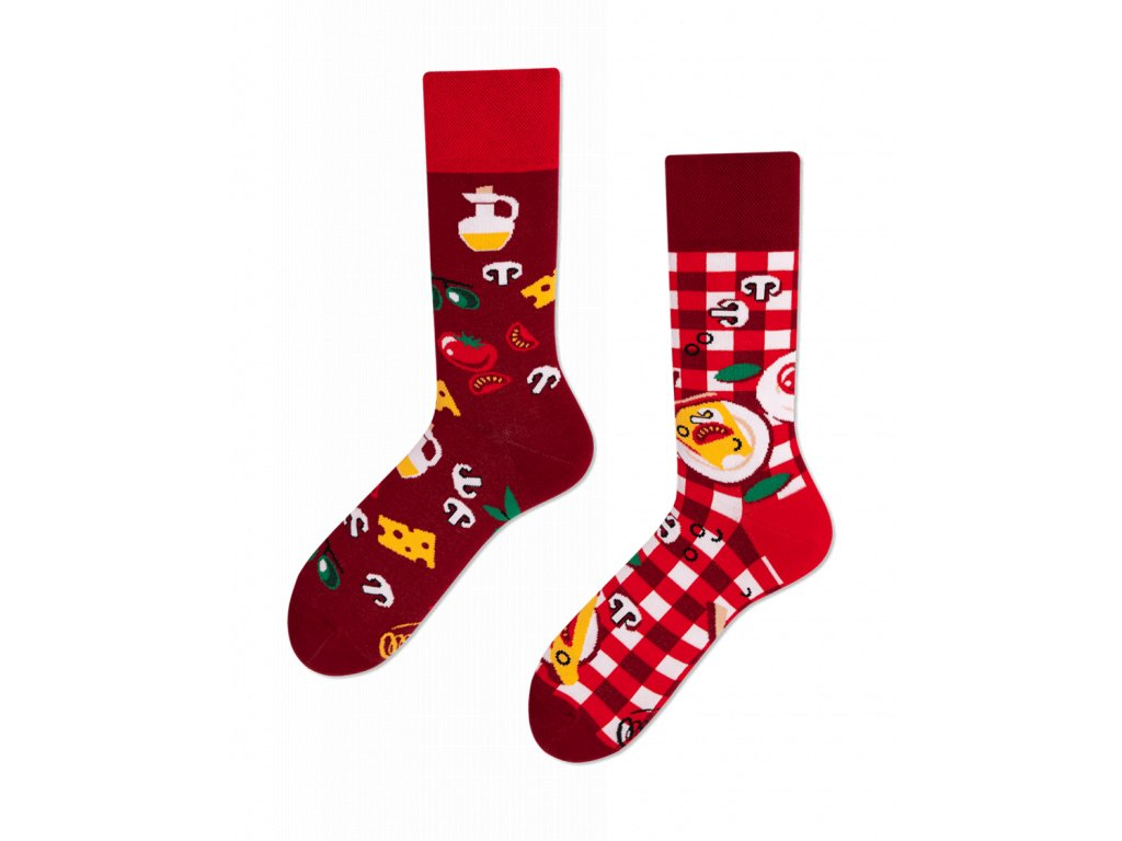8bd5fc1c928 Many Mornings ponožky Pizza Italiana PÁNSKÉ - BE SOCKCESSFUL