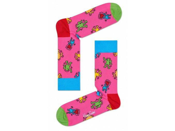 Happy Socks ponožky Valentine X Keith Haring KEH01-3000 DÁMSKÉ