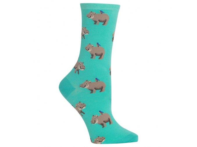 Women s Hippo Crew Socks 047852234955
