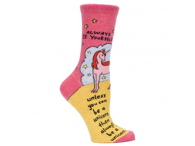 always be a unicorn womens crew socks blue q funny 2048x