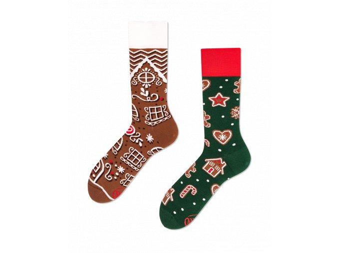 Many Mornings vánoční ponožky The Gingerbread man PÁNSKÉ