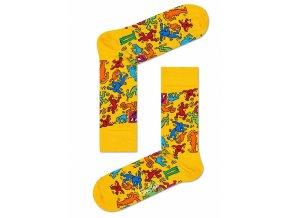 Happy Socks ponožky Valentine X Keith Haring KEH01-2000 DÁMSKÉ