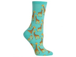Hot Sox Women s Giraffe Crew Socks 047852234924
