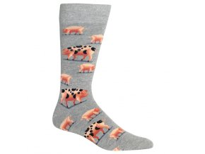 Hot Sox Men s Spotted Pig Crew Socks 047852232272