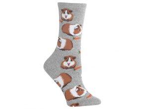 Hot Sox Women s Guinea Pigs Crew Socks 047852233330