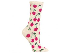 Hot Sox Women s Cherries Crew Socks 047852187596