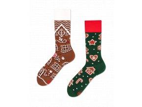 Many Mornings vánoční ponožky The Gingerbread man DÁMSKÉ