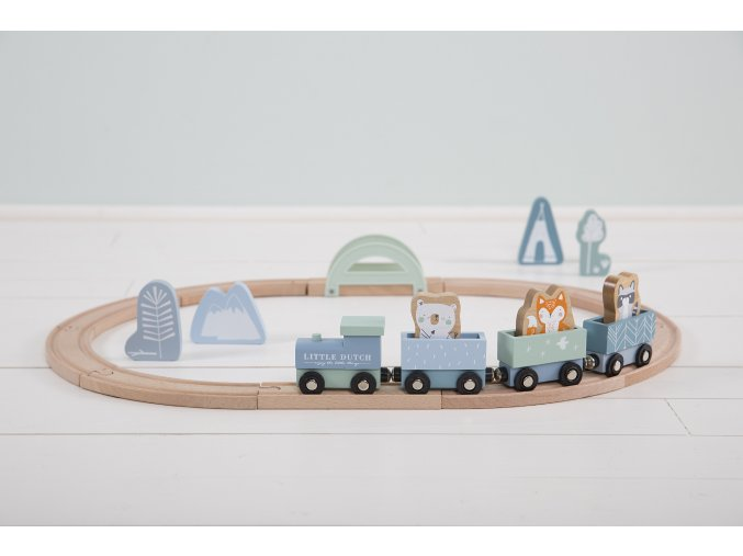 4423 wooden train track blue 4