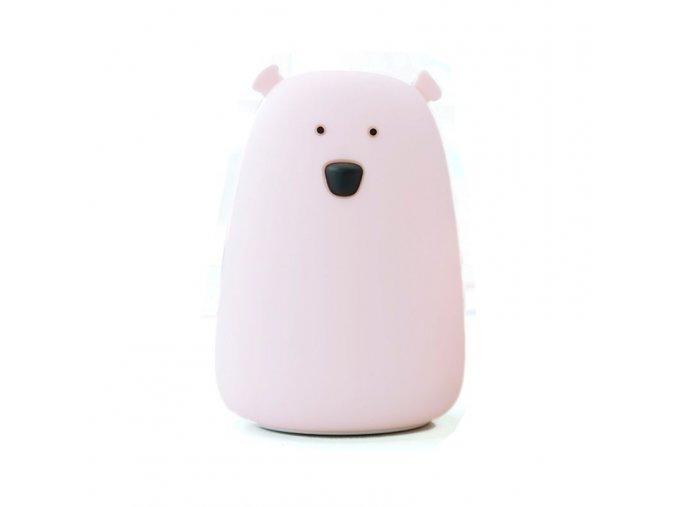 Velká lampička medvídek - růžová