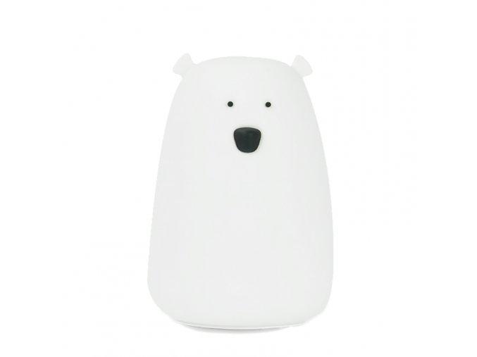 Velká lampička medvídek - bílá