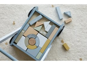 4415 Wooden baby walker blue