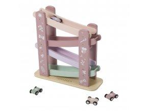 4374 wooden race track pink kopie