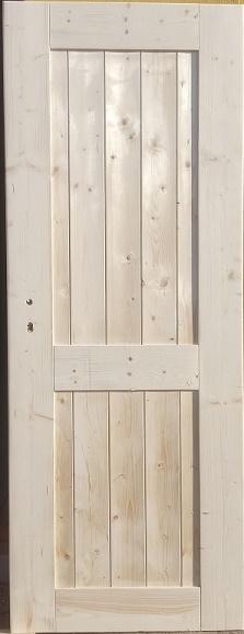 Palubkové dveře vnitřní nezateplené svislé Fichte 10