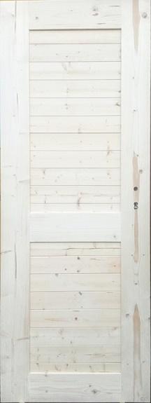 Palubkové dveře vnitřní nezateplené vodorovné Fichte 10