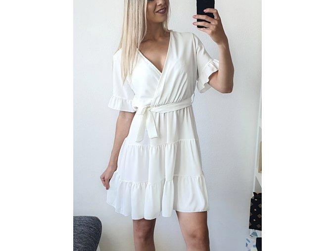 Biele voľné ľahké elegantné šaty Elisa