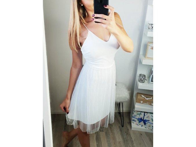 damske biele sexi saty so sexi odhalenym chrbatom
