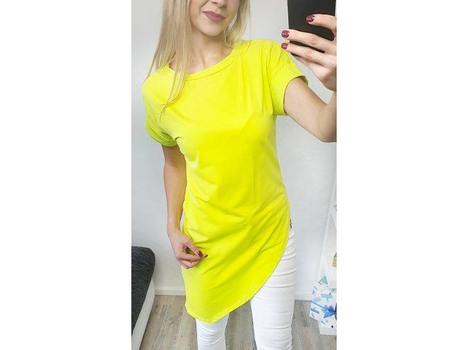 Dlhé asymetrické limetkové tričko