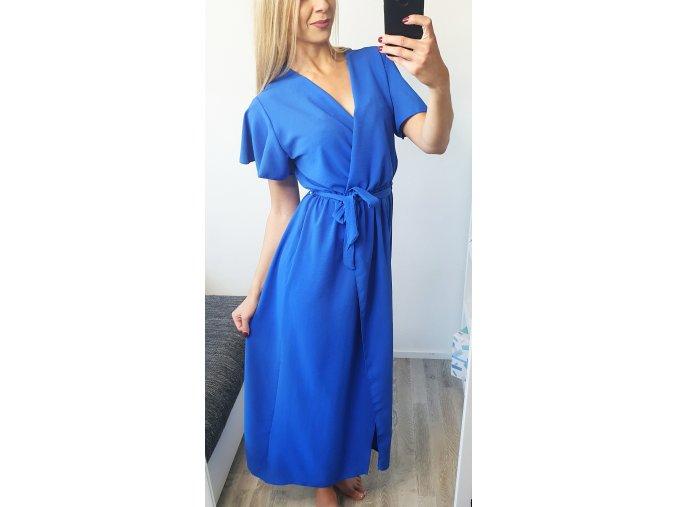 damske dlhe letne elegantne modre saty sofyi