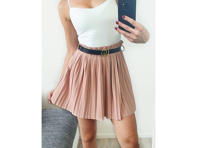 Staroružová sukňa s opaskom