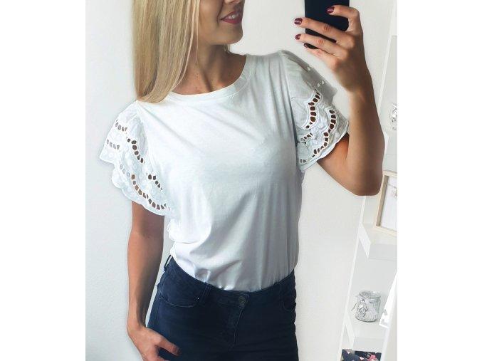 Biele tričko s rukávmi