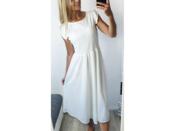 Dlhé biele šaty