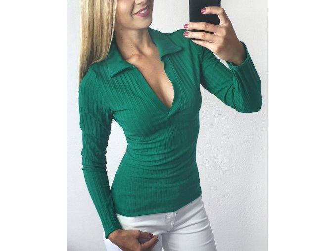 Damska svetrikova elegantna zelena kosela sofyi sofyisk