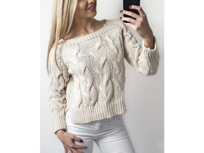 Damsky bezovy hnedy sveter sofyi