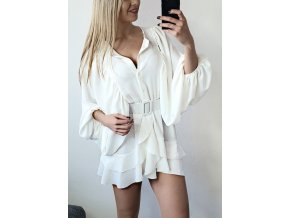 Biele elegantne volne saty bluzka sofyi