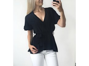 Čierne elegantné tričko