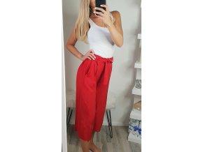 damske volne letne cervene trojstvrtove nohavice