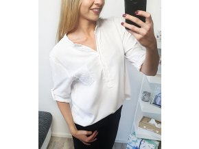 Biela košeľa s flitrami