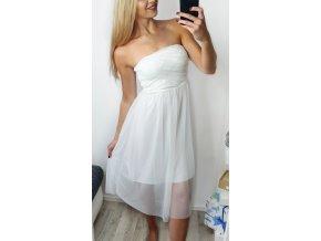 Biele tilové letné šaty