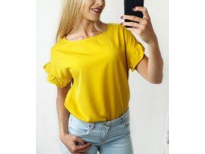 Žlté volánikové tričko