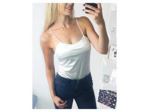 damske biele satenove sexi elegantne body