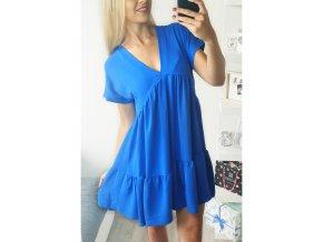 damske modre volne vzdusne letne saty kralovska modra