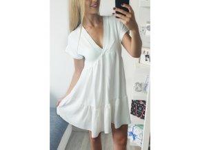 damske biele volne vzdusne letne saty