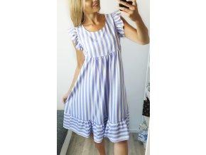 Letné fialové pásikavé šaty