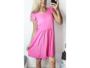 Ružové voľné letné šaty