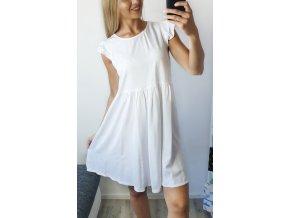 Letné biele voľné šaty