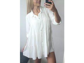 Damska elegantna biela volna kosela