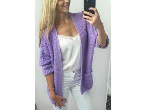 damsky teply fialovy sveter s vreckami sofyi sofyisk
