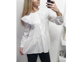Biela elegantná košeľa s límcom
