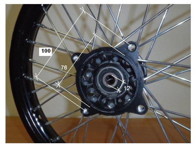 Ráfek přední na pitbike, dirtbike - kolo 14´´ Typ2