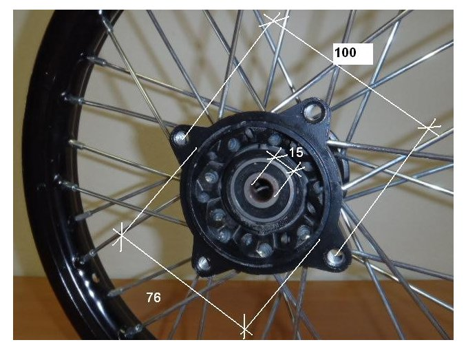 Ráfek přední na pitbike, dirtbike - kolo 14´´ Typ4