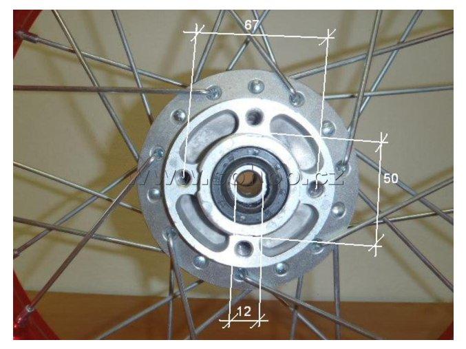 Ráfek přední na pitbike, dirtbike - kolo 17´´ Typ1