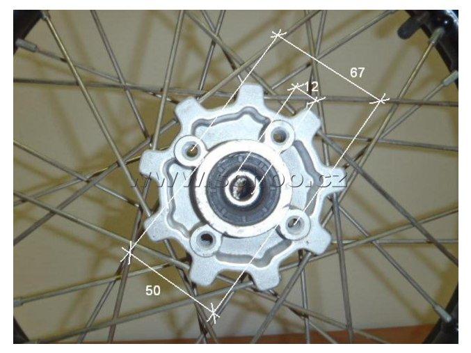 Ráfek přední na pitbike, dirtbike - kolo 17´´ Typ3