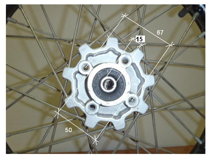 Ráfek přední na pitbike, dirtbike - kolo 17´´ Typ5