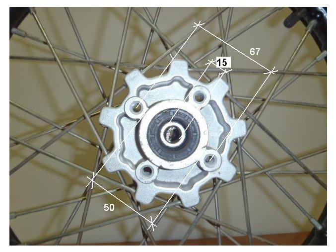 Ráfek přední na pitbike, dirtbike - kolo 19´´ Typ5